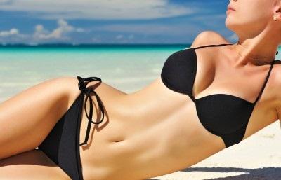 woman with a smooth bikini line