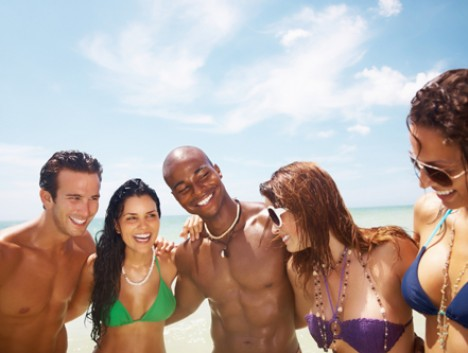 smiling group at beach468x353